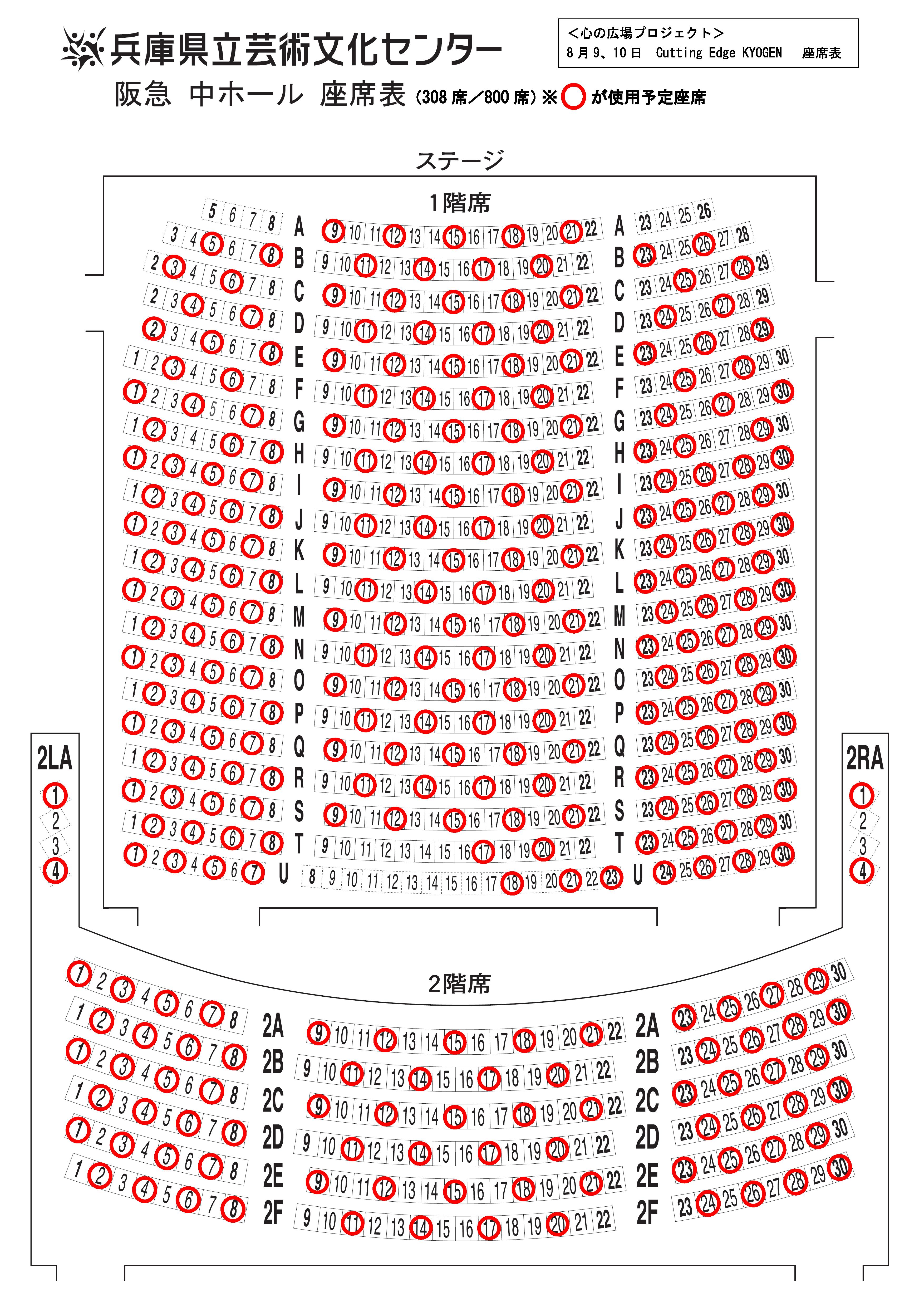 心の広場プロジェクト カッティングエッジ 座席表